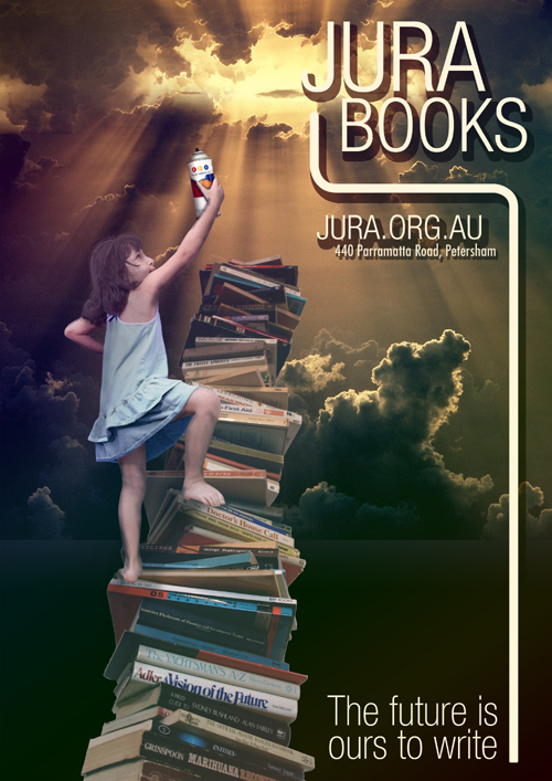 Jura Books poster: The future is ours to write