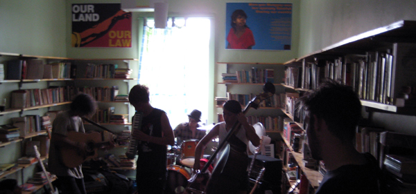 Gig in the Jura library in 2011