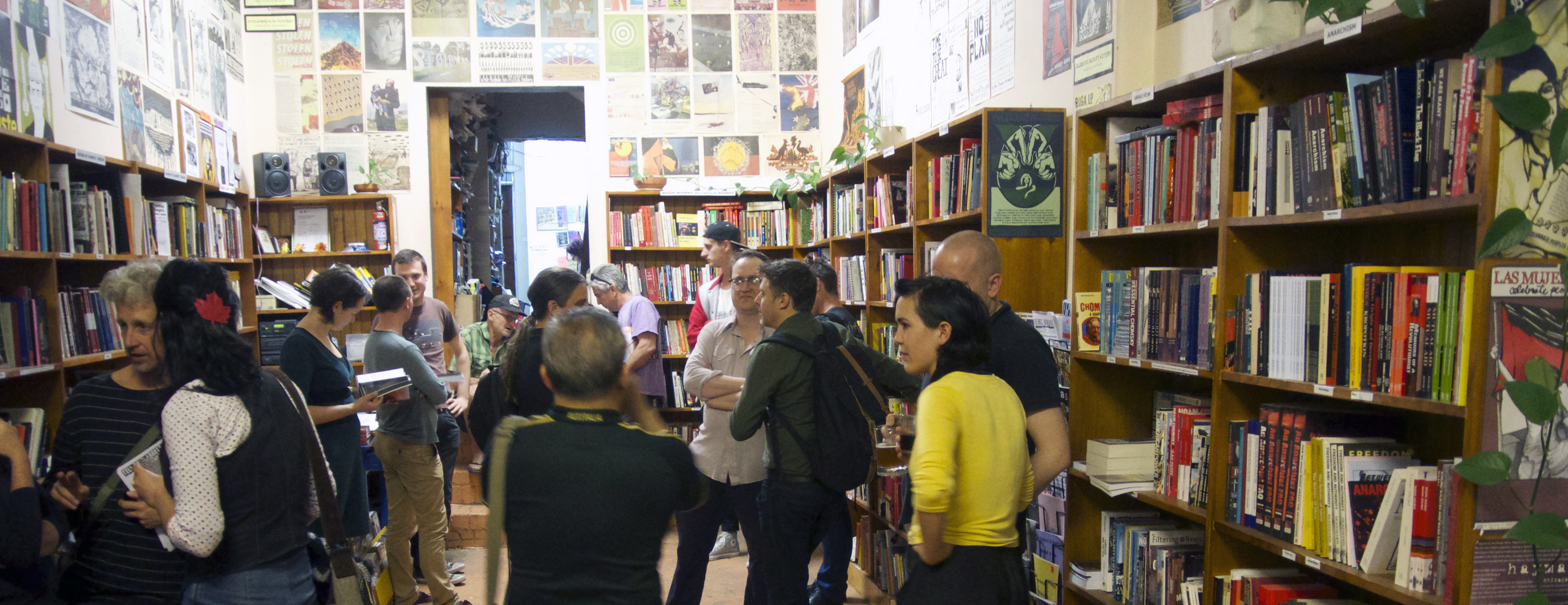 Jura Bookshop in 2013 at the launch of How to Make Trouble and Influence People
